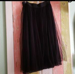 Studio West tulle black midi skirt